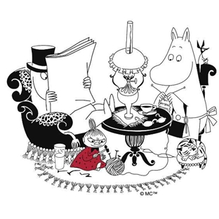 Kitchen Towel Moominpappa Reading - .