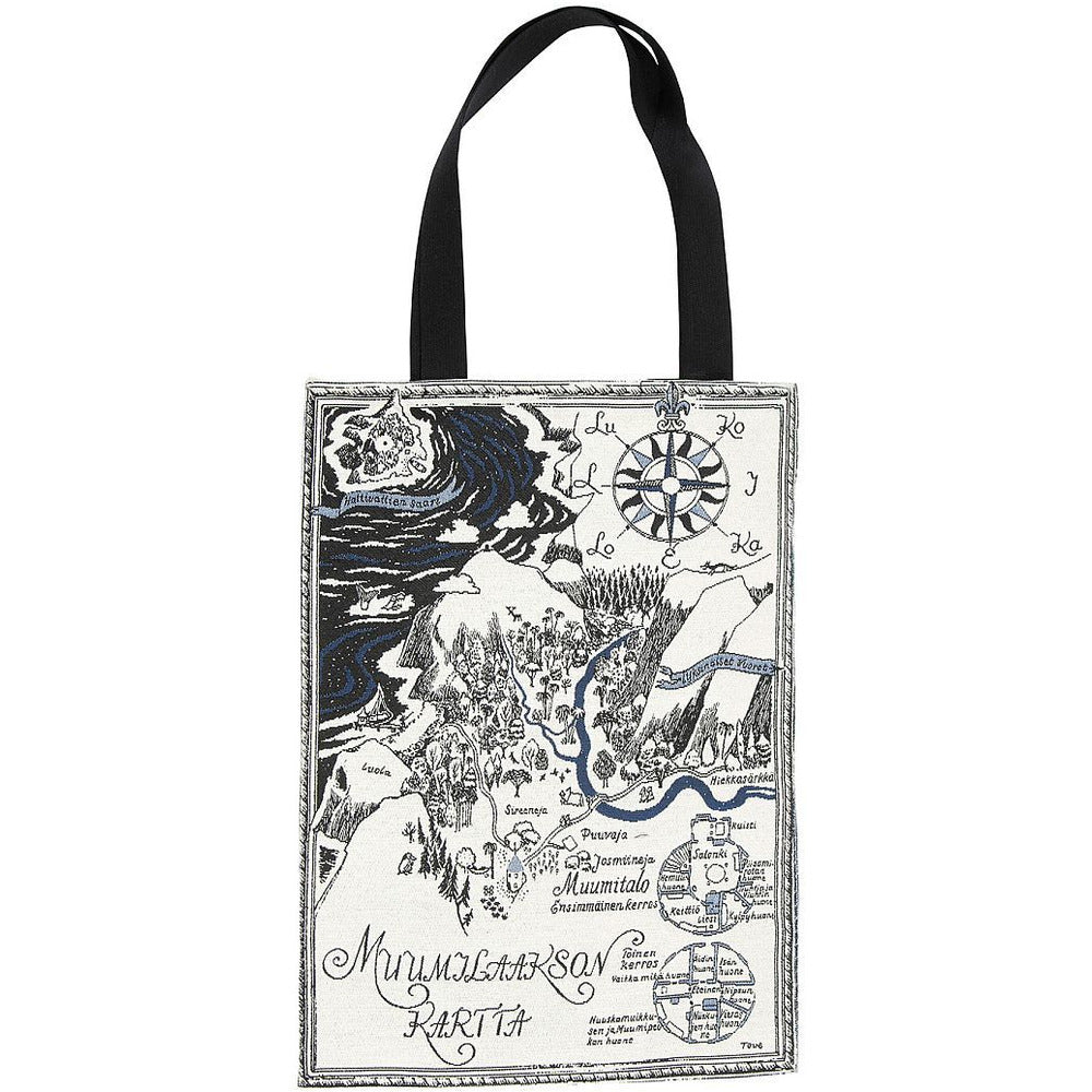 Jacquard bag Map Over Moominvalley - .