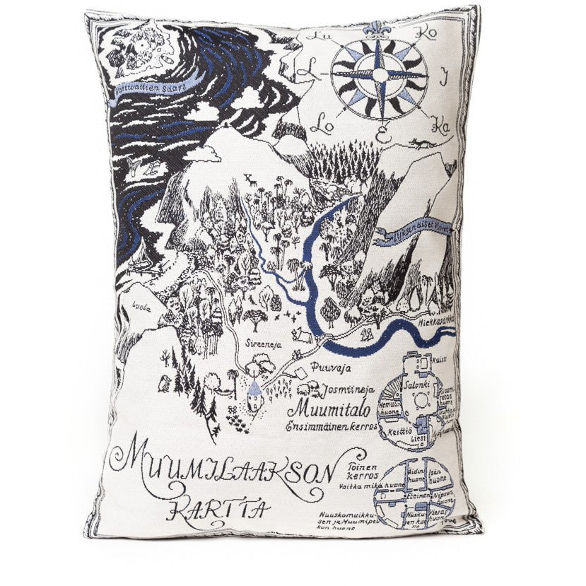 Gobelin Cushion Cover Map Over Moominvalley - .