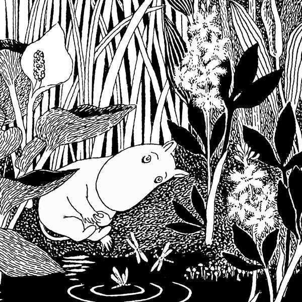 Greeting Card Square Sleeping Moomin - .