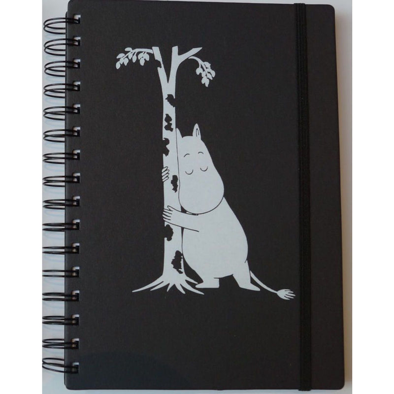Wire Notebook Black A5 Hard Cover Moomintroll