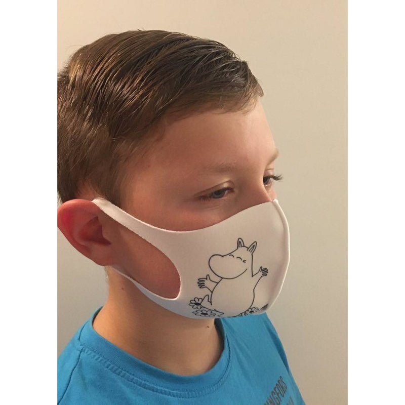 Moomin Face Mask Moomintroll White, Small