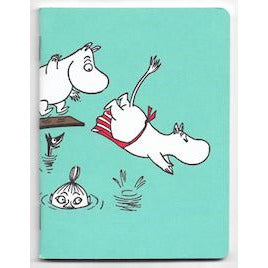 Moomin Mini Notebook Moominfamily Swimming - .