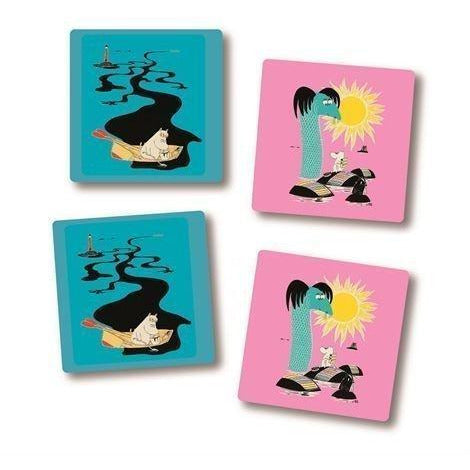Coaster Keep Sweden Tidy Pink Blue 4 pcs - .