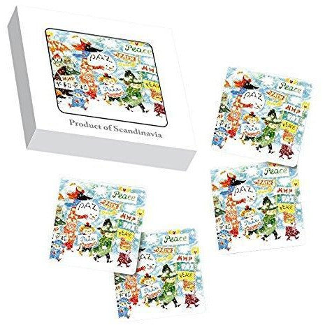 Moomin Coaster Peace 4 pcs - .