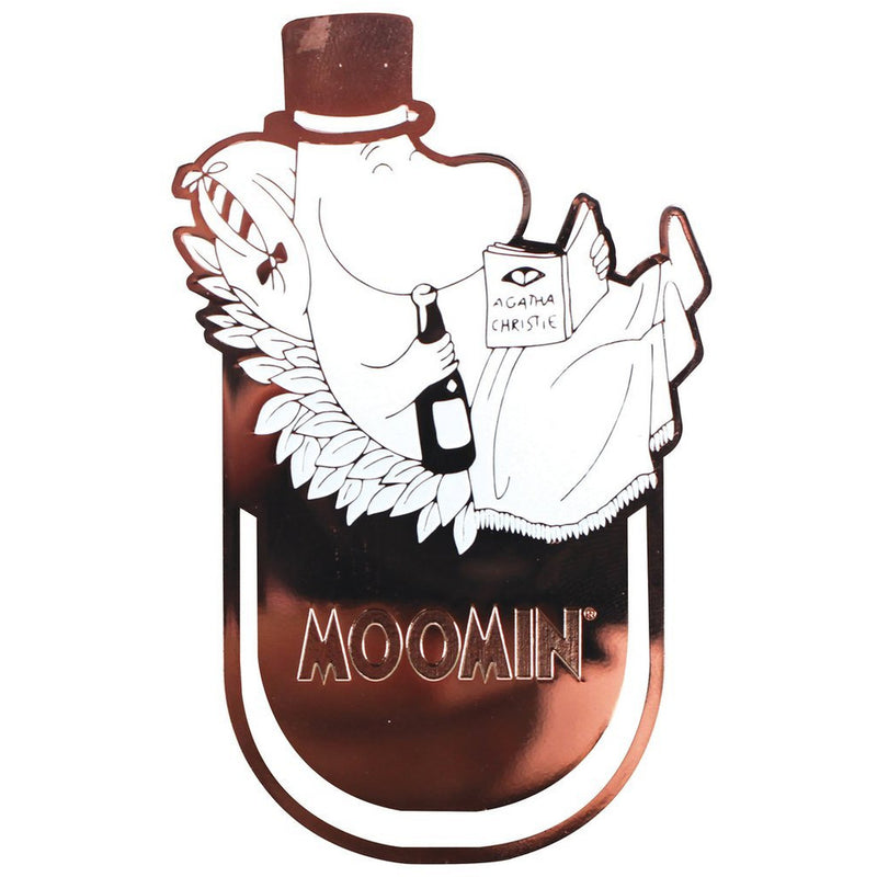 Moomin Clip On Bookmark Moominpappa Reading - .