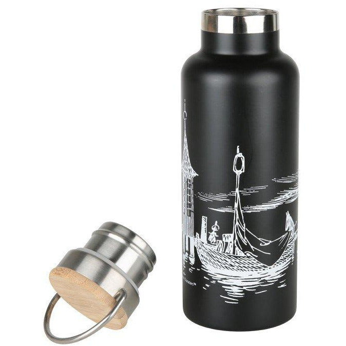 Moomin #oursea Stainless Steel Bottle Black - .