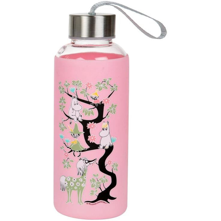 Moomin Climbing A Tree Bottle Pink - .