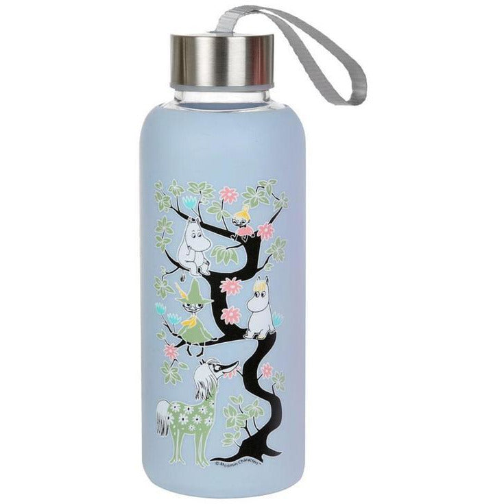 Moomin Climbing A Tree Bottle Blue - .