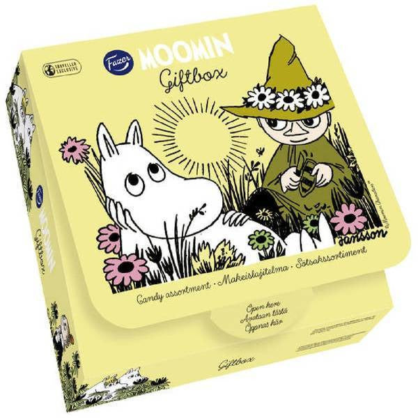 Moomin Summer Gift Box Candy Assortment Yellow by Fazer