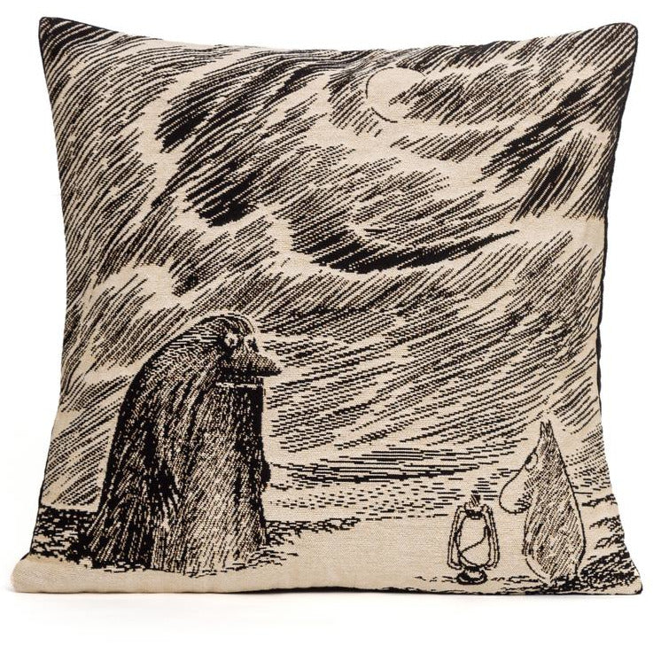 Jacquard Cushion cover Groke and Moomintroll - .