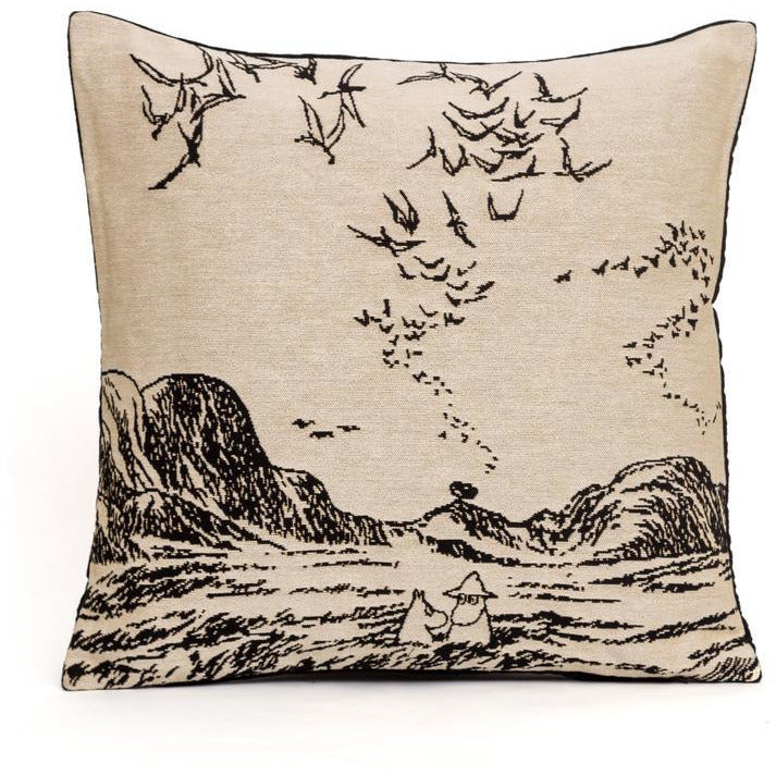 Jacquard Cushion cover Moomins and the Sea - .