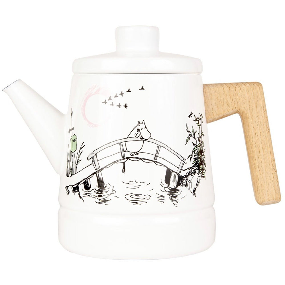 Moomin Enamel Coffee Pot 1.6 L Missing You - .