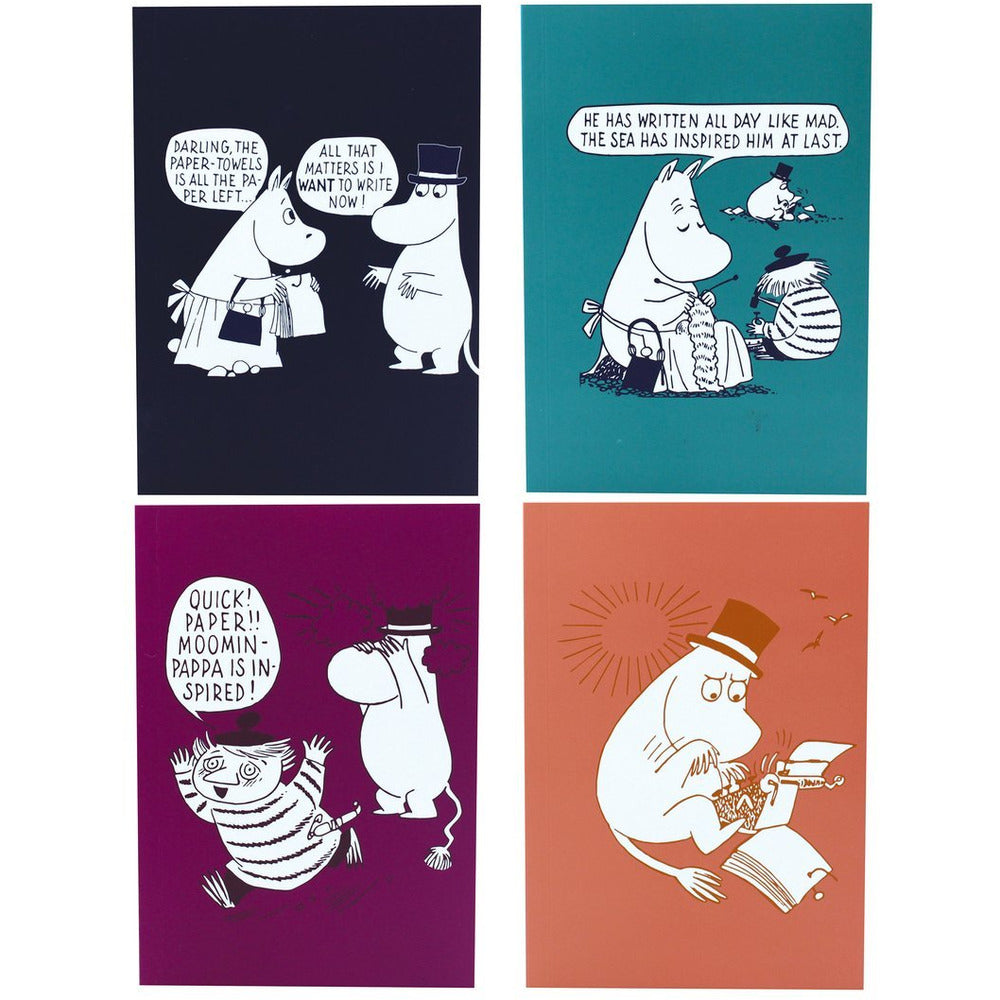A6 Notebook Set of 4 Moominpappa I Want To Write Now - .