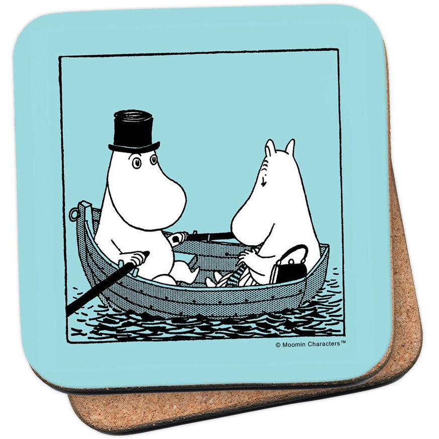 Coaster Moominpappa And Moominmamma In A Boat - .