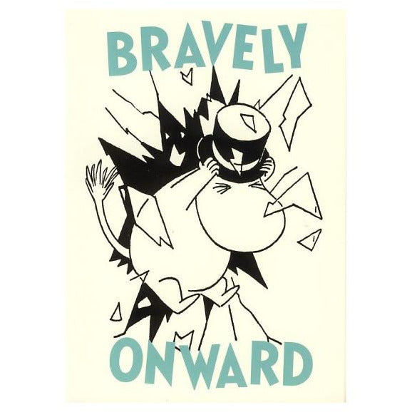 Postcard Bravely Onward - .