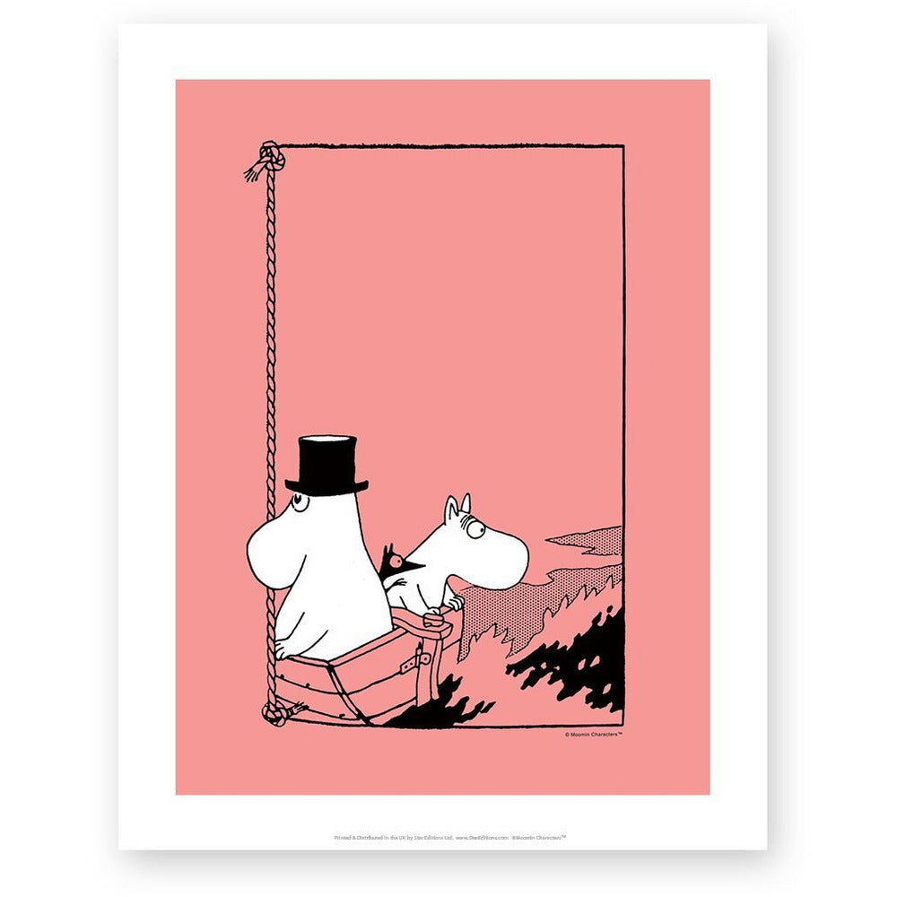 Art Print Moomintroll And Moominpappa In A Boat - .