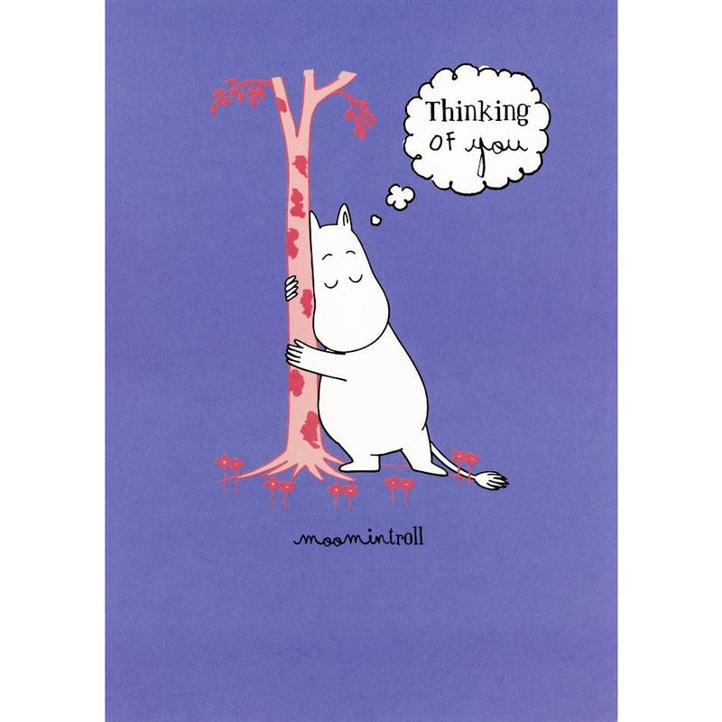 Greeting Card Thinking Of You Moomintroll Hugging A Tree - .