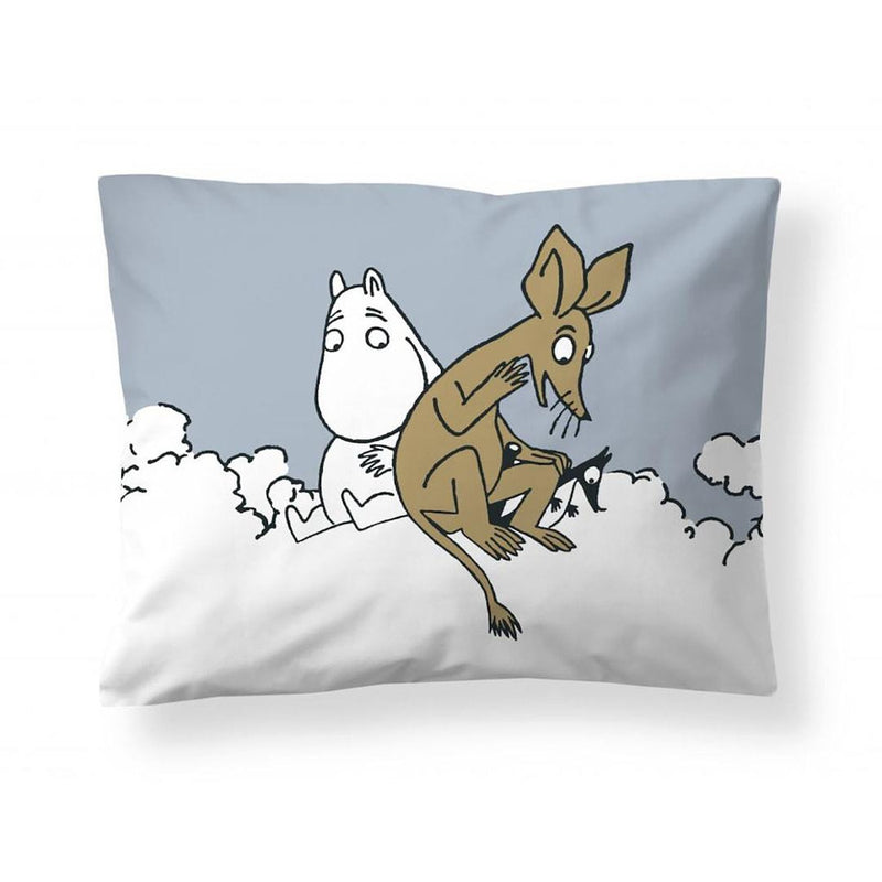 Pillowcase Moomintroll And Sniff Blue - .