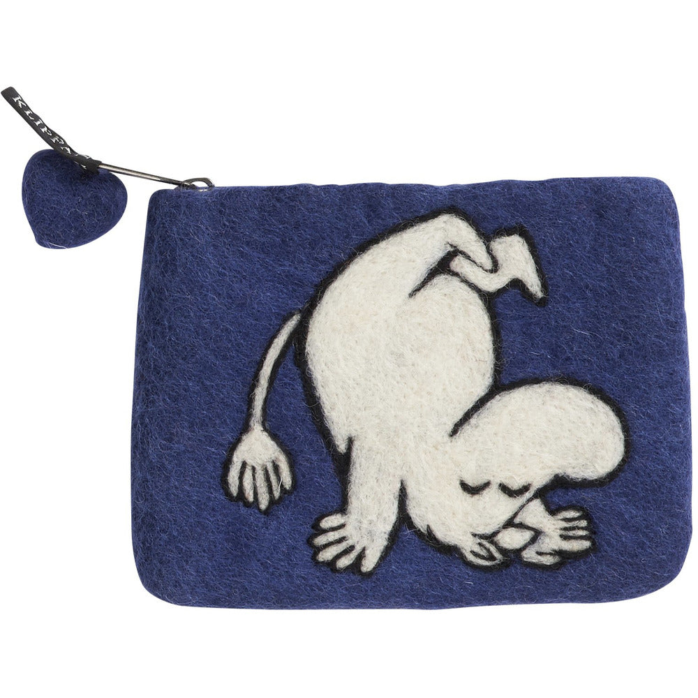 Felted Purse Moomin Up And Down Deep Blue - .