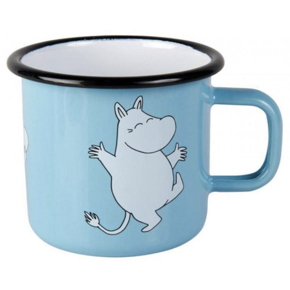 Moomin Enamel Mug 2.5 dl Retro Moomintroll Light Blue - .