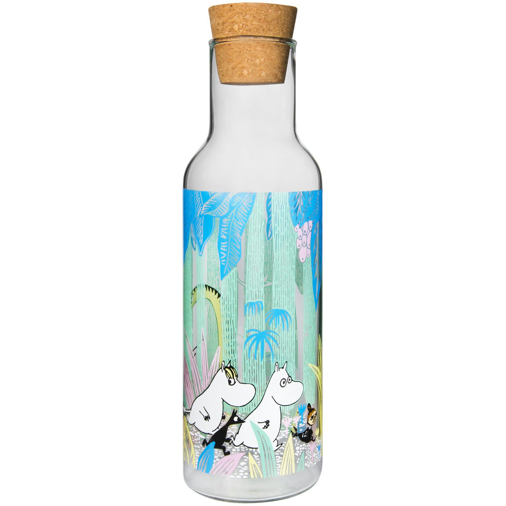 Moomin Glass Bottle With Cork In The Jungle - .