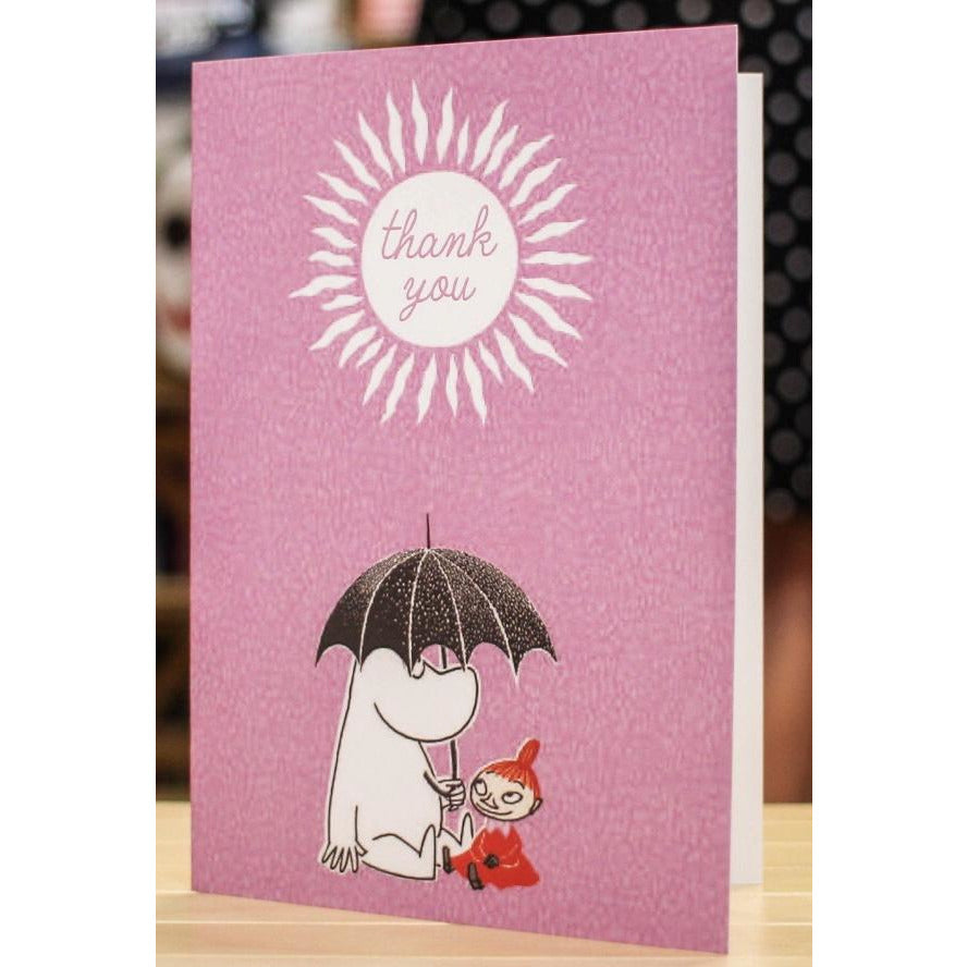 Greeting Card Thank You Moomintroll and Little My - .