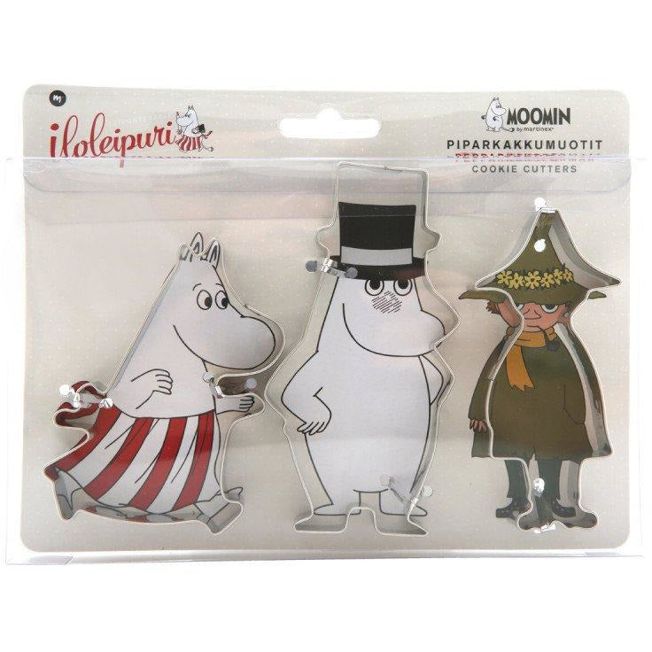 Cookie Cutter 3 pcs Snufkin, Moominmamma and Moominpappa - .