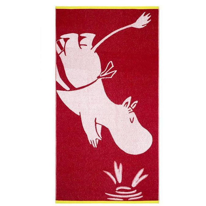 Bath Towel Moominmamma Dark Red - .