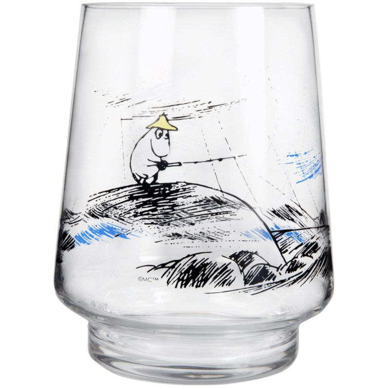 Moomin Glass Lantern/Vase Gone Fishing - .