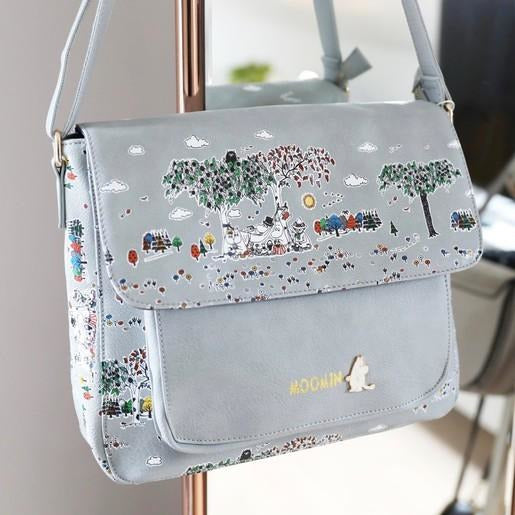 Moomin Satchel with Meadow print - .
