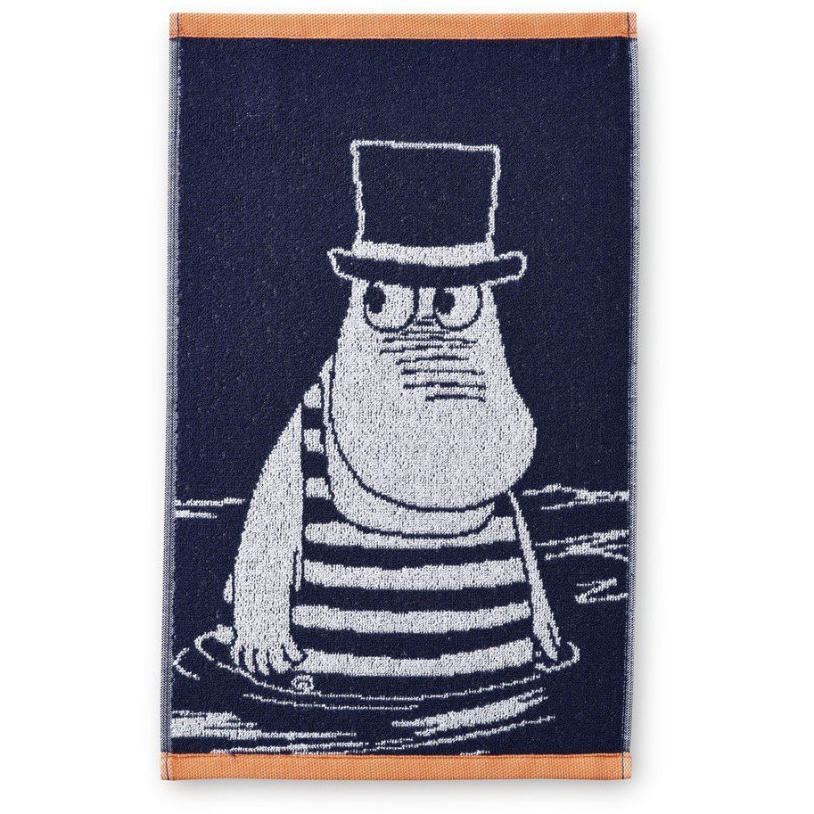 Hand Towel Moominpappa In Swimsuit Navy Blue