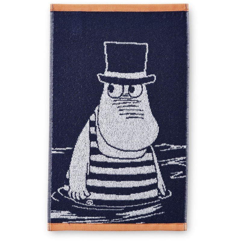 Hand Towel Moominpappa In Swimsuit Navy Blue - .