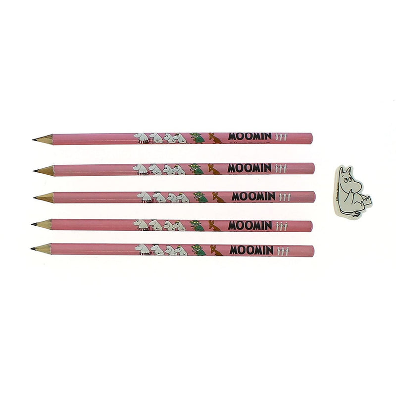 Moomin Pencil Set With Eraser - .