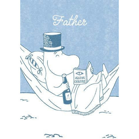 Greeting Card Moominpappa Blue - .
