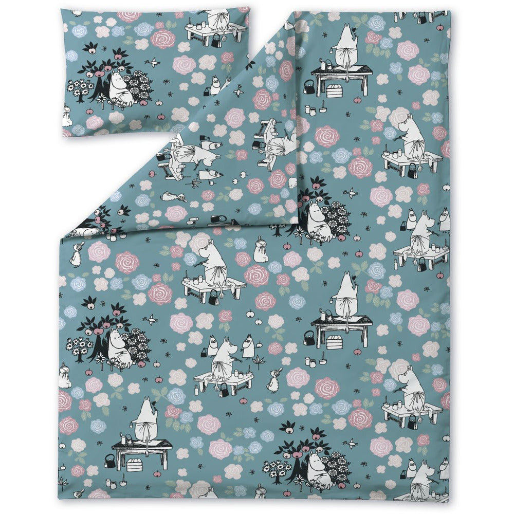 Duvet Cover Single + Pillow Case Moominmamma Dreaming - .