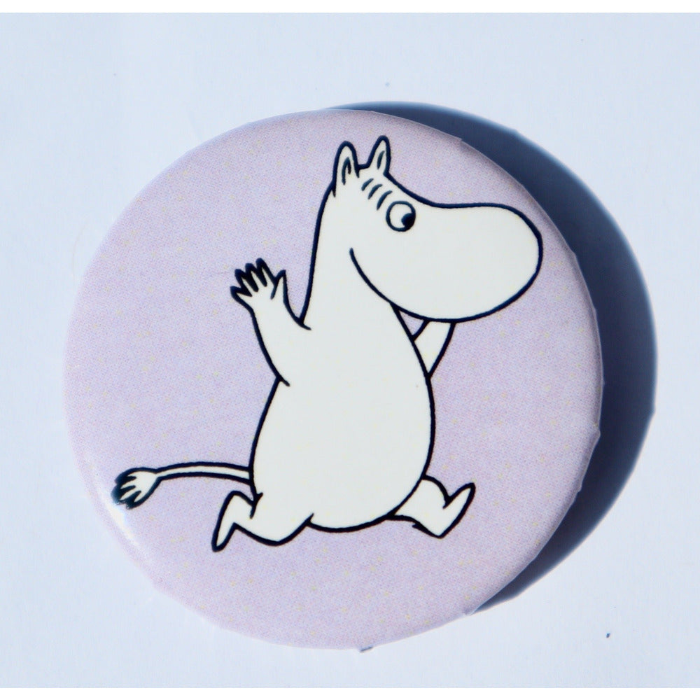 Button Badge Moomintroll Lilac - .