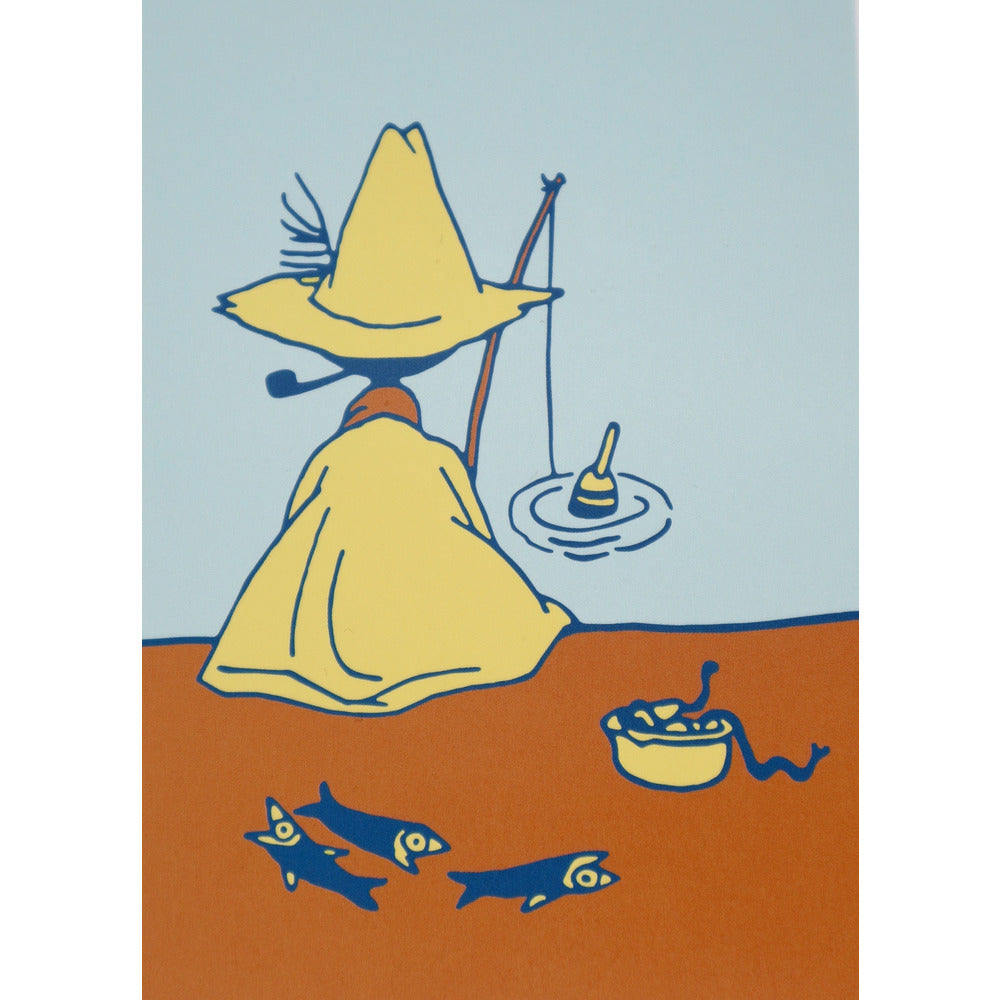 Postcard Snufkin Fishing #oursea - .