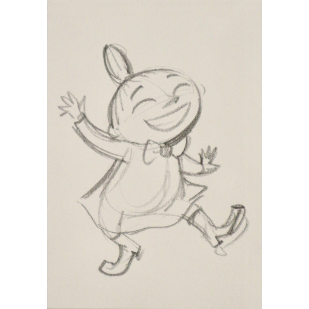 Postcard Moominvalley TV Little My Sketch - .