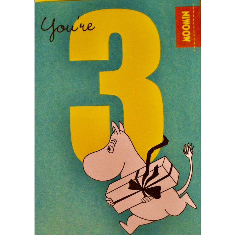 You're 3 Greeting Card - .