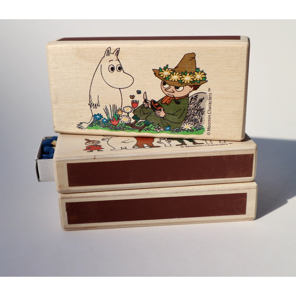 Wooden Match Box Moomintroll And Snufkin - .