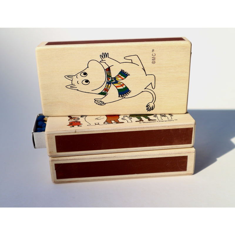 Wooden Match Box Moomintroll With A Scarf - .