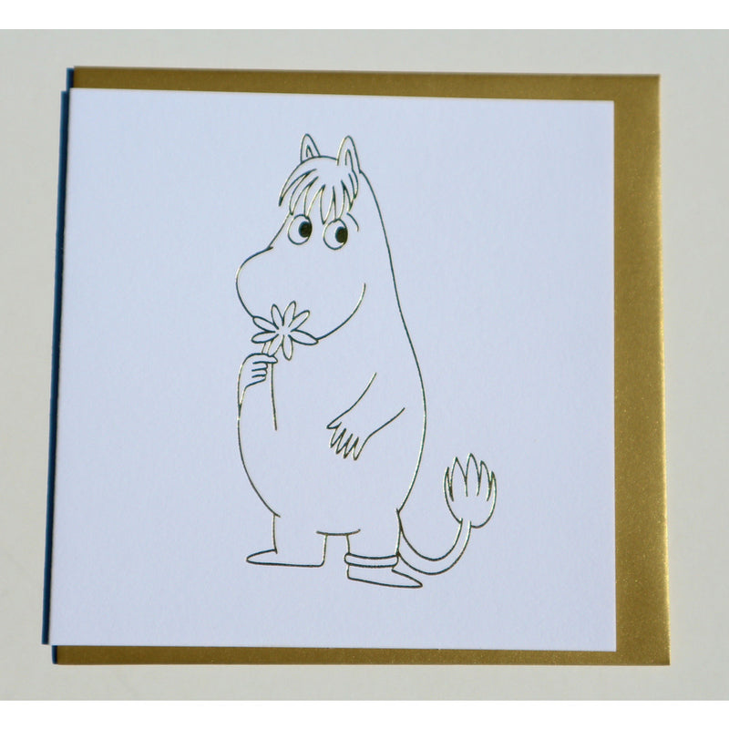 Greeting Card Snorkmaiden With A Flower - .