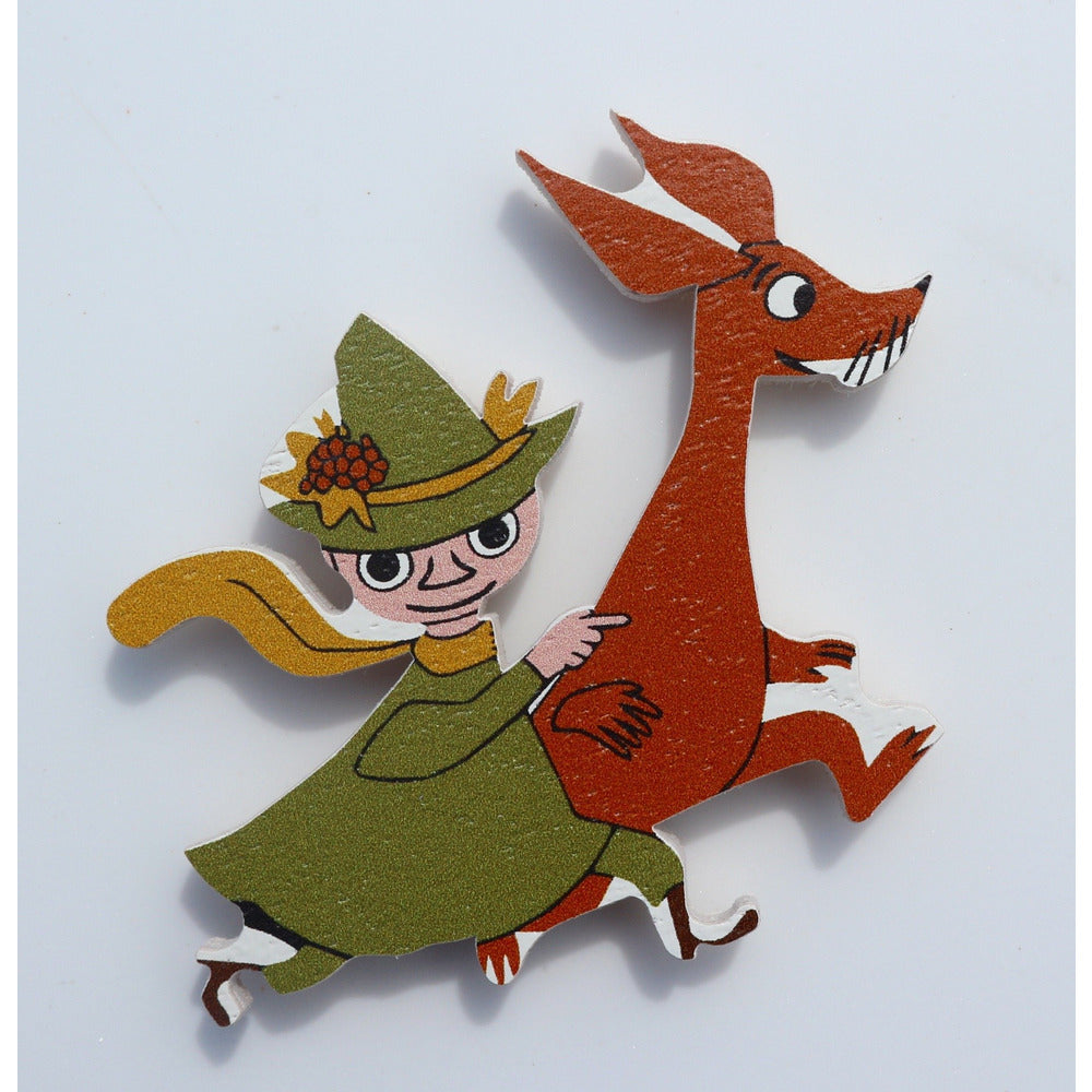 Wooden Magnet Snufkin And Sniff