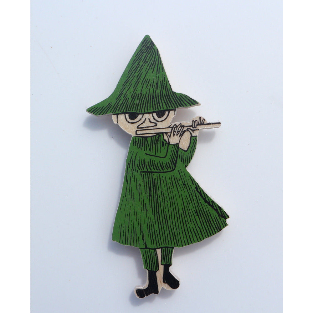 Wooden Brooch Snufkin - .