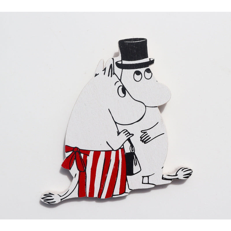 Wooden Magnet Moominmamma And Moominpappa - .