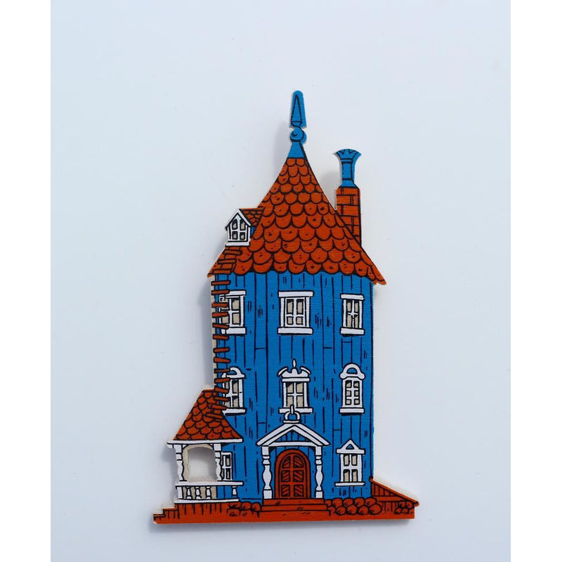 Wooden Brooch Moomin House - .