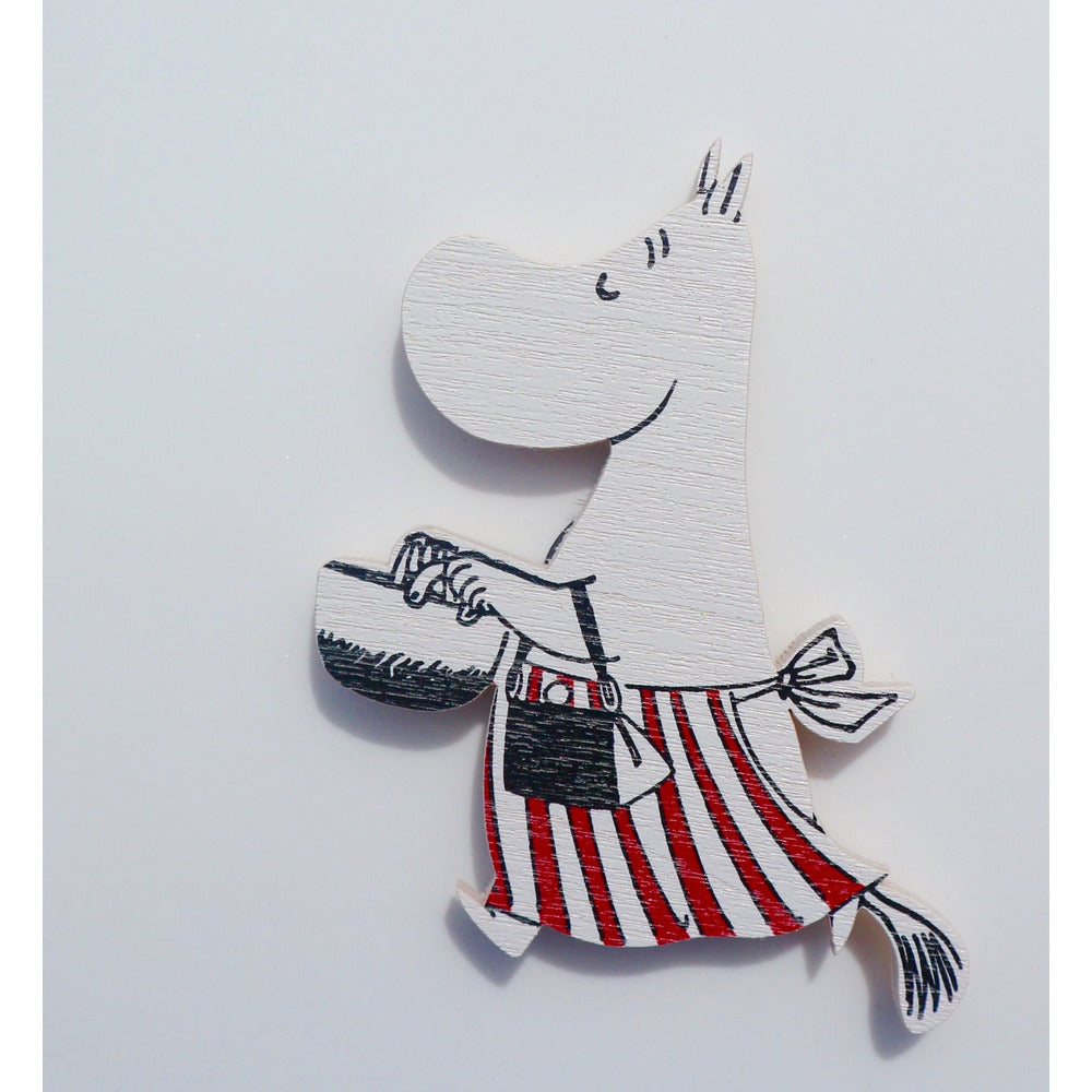Wooden Brooch Moominmamma With Pot - .