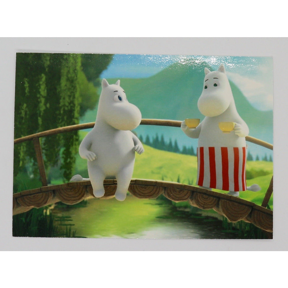 Postcard Moominvalley TV Moomintroll and Moominmamma