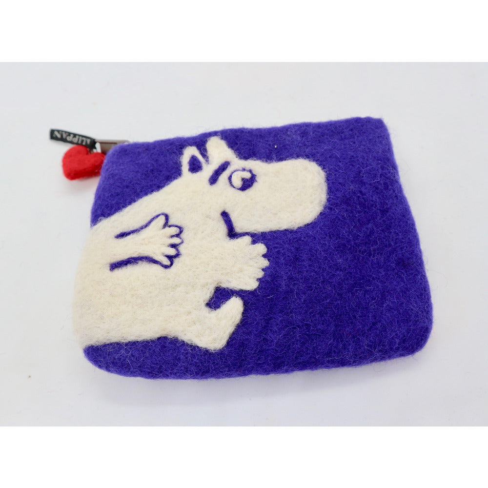 Felted Purse Moomin Running Lilac - .